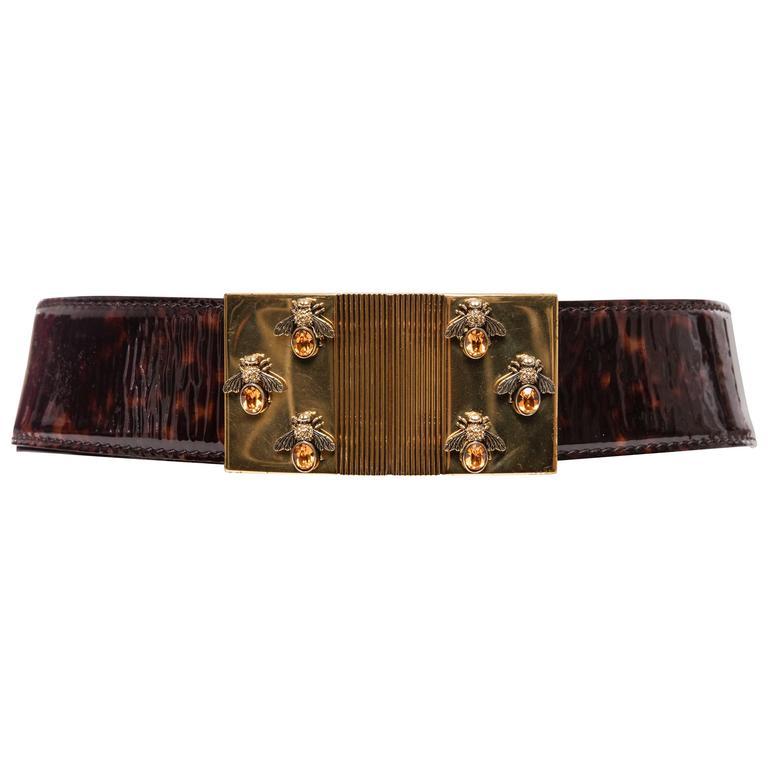 Alexander McQueen By Sarah Burton Patent Leather Tortoise Belt, Spring 2013