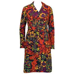 1960's Donald Brooks Baby-doll Floral Trench