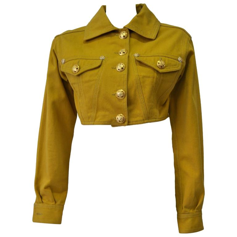 Versace Jeans Couture Gold Haute Denim Bolero Jacket 1