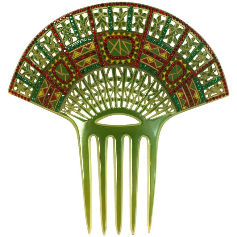 Art Deco Eygptian Revival Comb For Sale