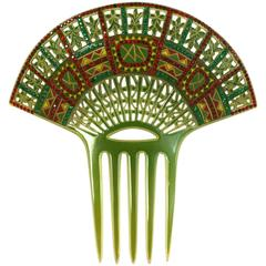 Art Deco Eygptian Revival Comb