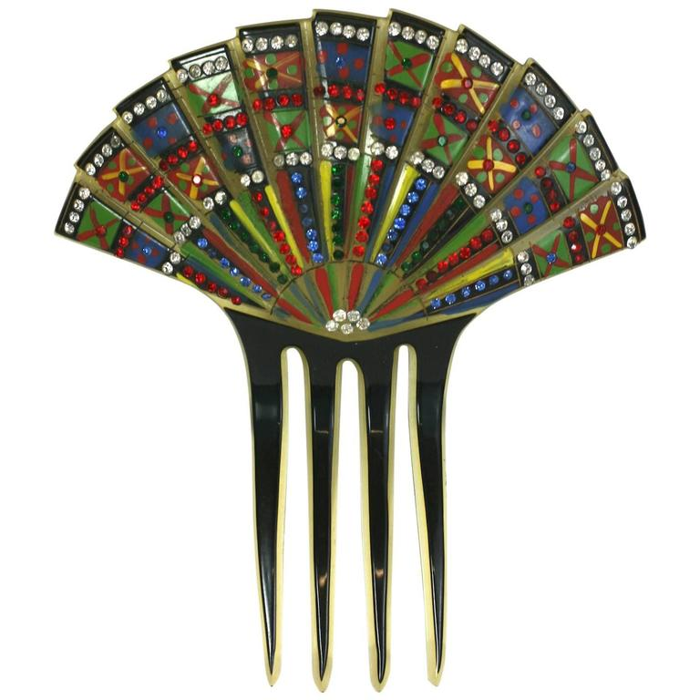 Eygptian Revival Art Deco Comb For Sale