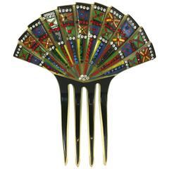 Eygptian Revival Art Deco Comb