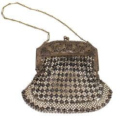 20s Art Deco Metal Mesh Purse