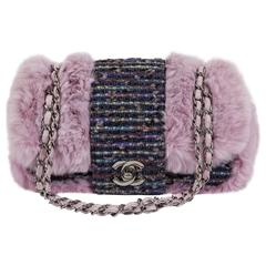 Chanel Glicine Lapin & Tweed Single Flap