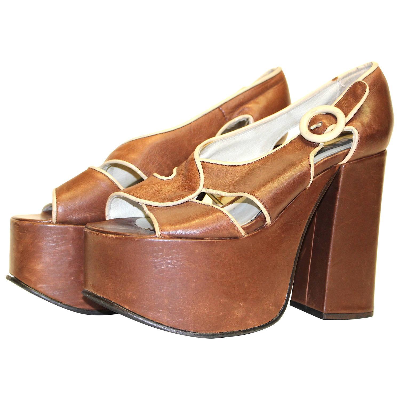 70s platform shoe for sale at 1stdibs