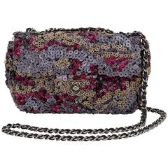 Chanel Sequin Camouflage Evening Flap Bag