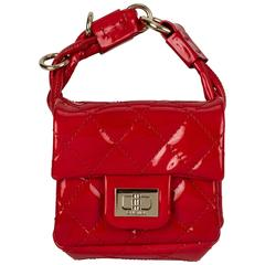Chanel Red Patent Leather Wrist Bag