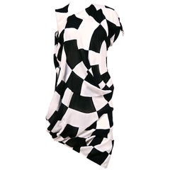 JUNYA WATANABE COMME DES GARCONS checkered & draped runway dress
