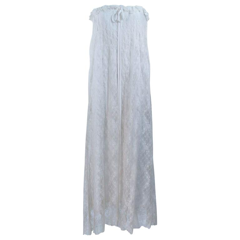 BILL BLASS White Lace Strapless Dress Size 6 1