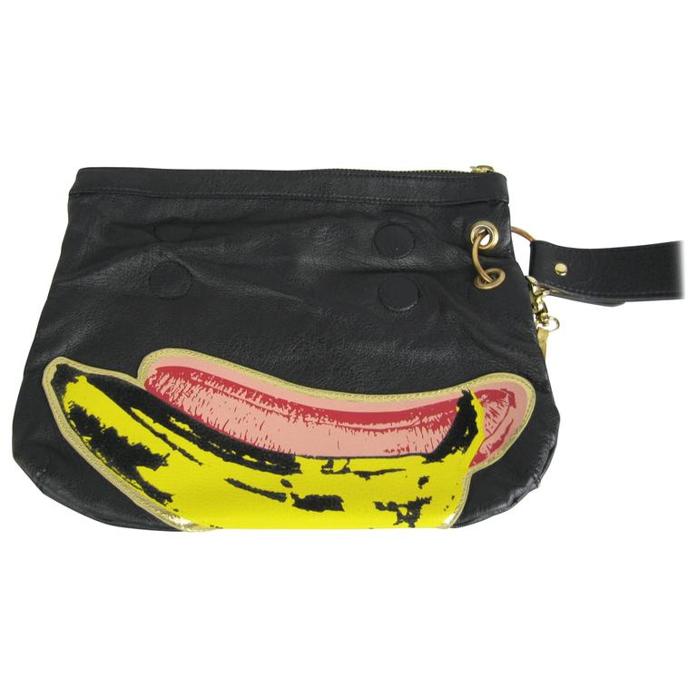 Vintage Andy Warhol Banana Pop Art Hand Bag Clutch For