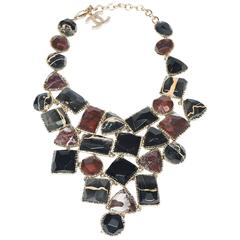 1990's Chanel Stunning Marble Bib  Necklace