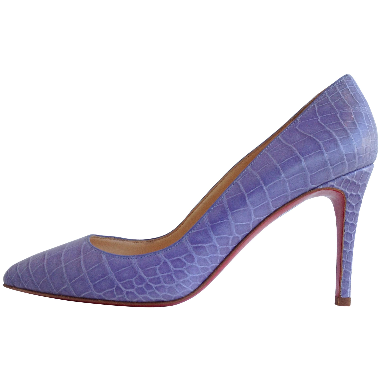 3df226bf728 Christian Louboutin Lavender Crocodile Pumps Size 37.5 (7)