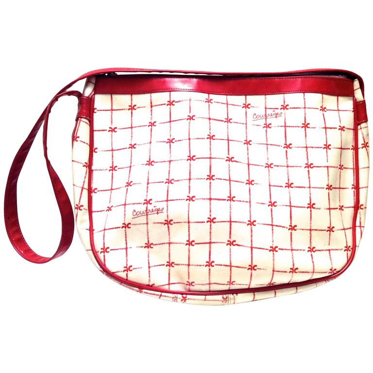 Rare 1970's Courreges Purse - White and Red