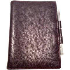 Hermes Agenda / Notebook with Sterling Silver Pen