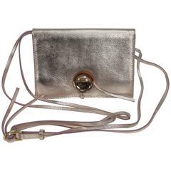 Vintage Baccarat Eclipse pink metallic leather with crystal shoulder bag NIB