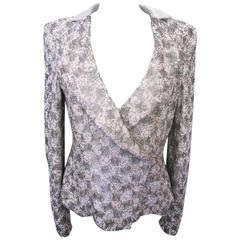 New Giorgio Armani Pink and Silver Bugle Beaded Jacket
