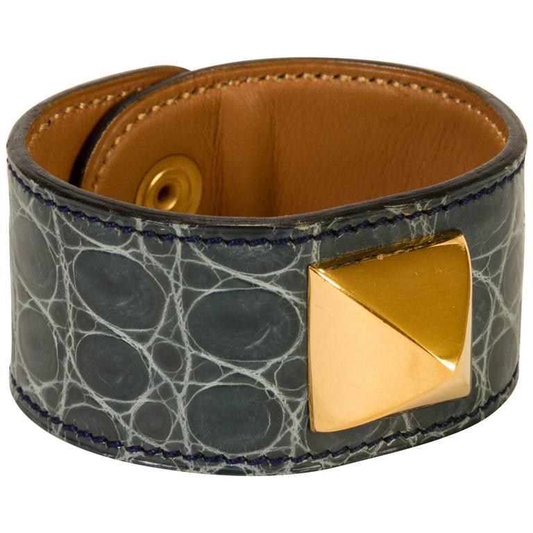 Hermès Crocodile Medor Bracelet For Sale