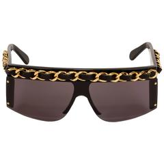 Chanel Rare 1980's Gold Chain Sunglasses