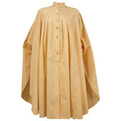 Bill Gibb ivory cotton pleated opera coat, C. 1978