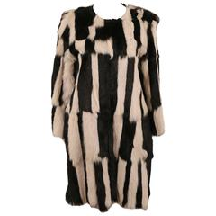 Isabel Marant black and ecru goat hair Alea coat, C. 2014