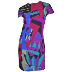 1980s Ganni Versace Graffiti Inspired Dress & Coat Book Piece