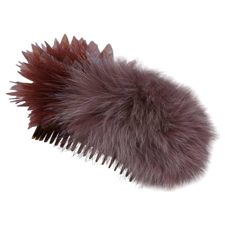 Sequin Leaf and Fox Comb