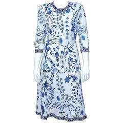 1990s Averardo Bessi Graphic Floral Cotton 2-Piece Outfit