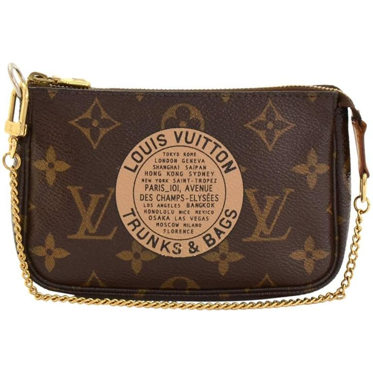Louis Vuitton Mini Pochette Accessories T&B Monogram Canvas Pouch 1