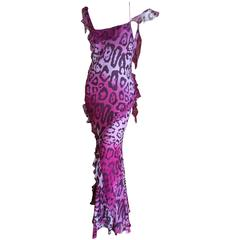 Christian Dior by John Galliano Bias Cut Leopard Dress