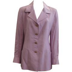 Karl Lagerfeld Lavender Linen Blend Jacket - 42 - 1980's