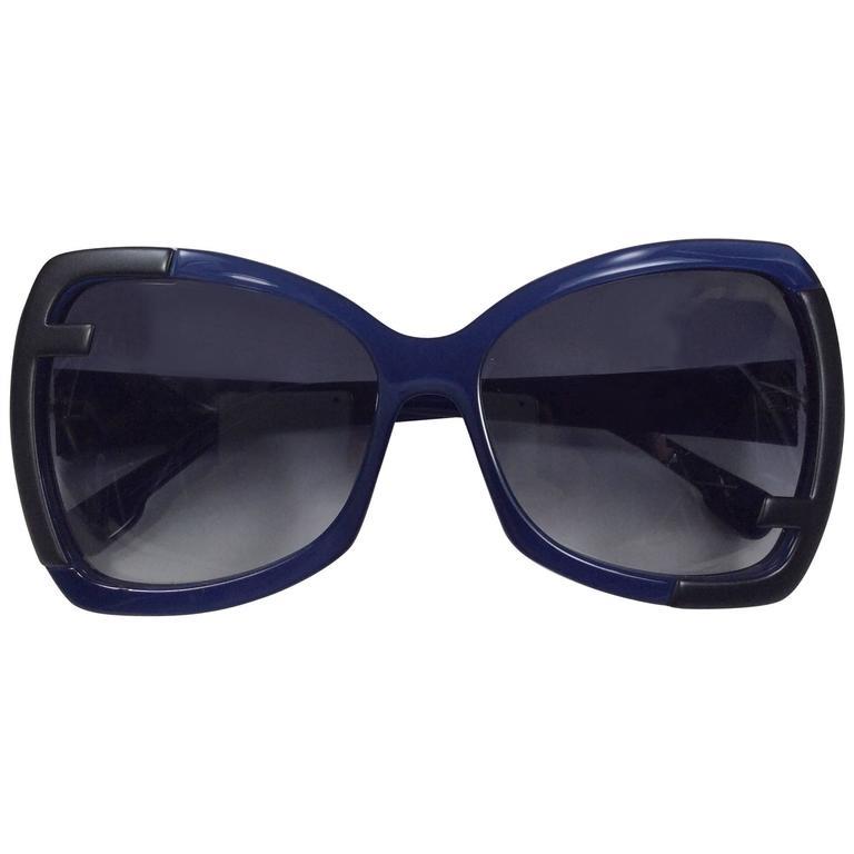 Fendi Blue Tinted Sunglasses For Sale