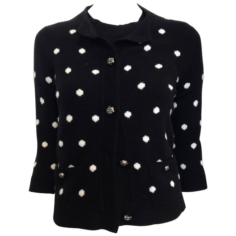 Chanel Black and White Cashmere Twinset Size 36, 34 (4, 2)