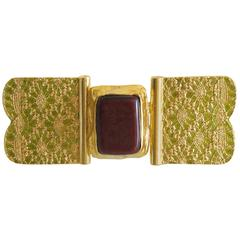 Yves Saint Laurent YSL signed Belt Buckle Rive Gauche Collection
