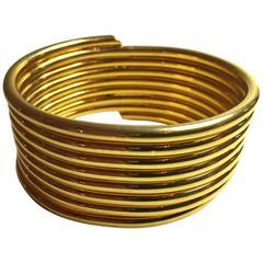 1980s MARTHA STURDY 24K Goldplated Coil Bracelet