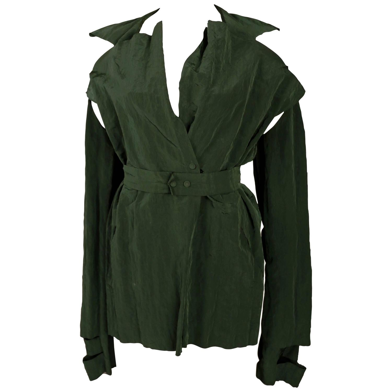Maison Martin Margiela deconstructed crinkled jacket, c. 1990s For Sale at 1stdibs
