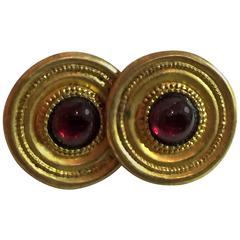 1970s Goldplated STERLING Amethyst Earrings