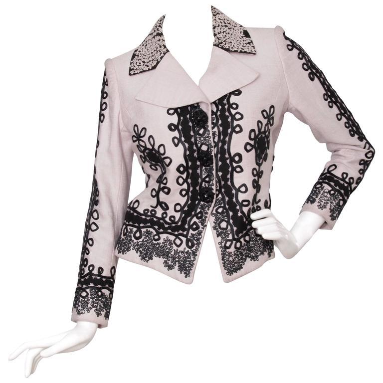 90s Christian Lacroix Lavender Haute Couture Blazer