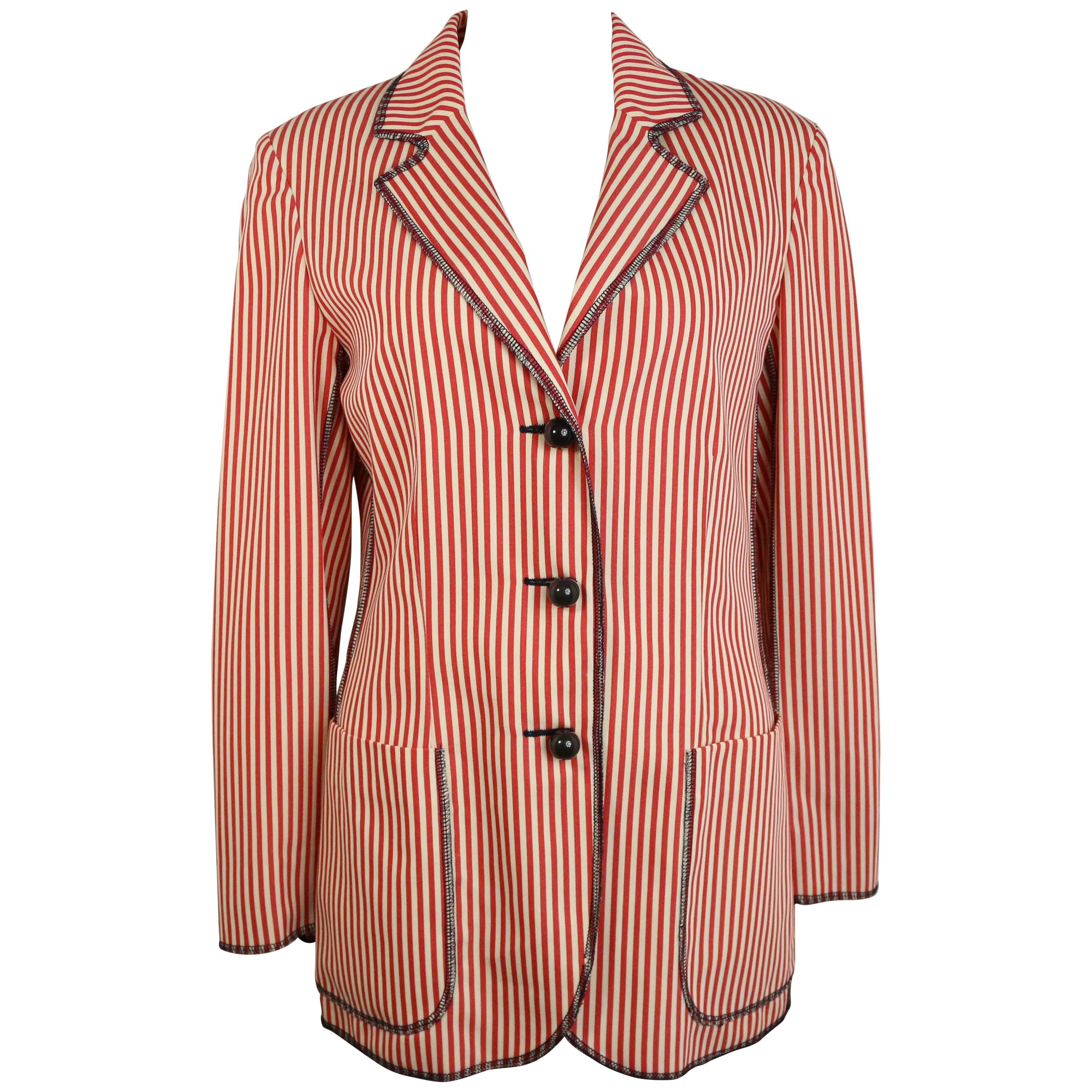 Moschino Cheap and Chic Red/White Striped Jacket