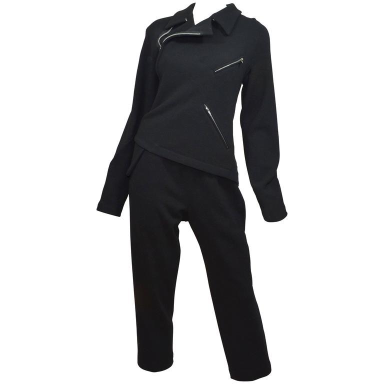 Comme Des Garcons 2014 AD Moto Asymmetrical Zip Track Suit