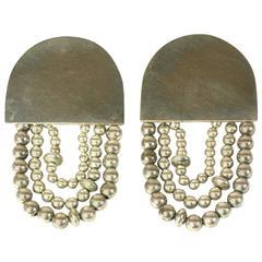 Artisan Sterling Silver Earclips