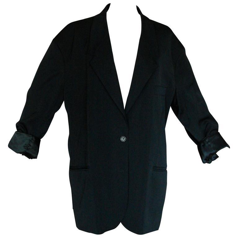Margiela Pour H&M Navy Oversized Blazer Jacket Contrast Stitching 2012 LE 1