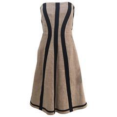 DOLCE & GABBANA linen strapless dress
