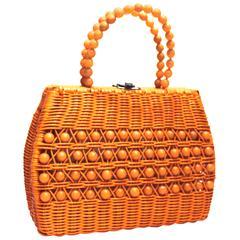 60's Woven Basket Purse