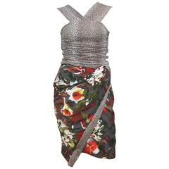 1980s Spazio Italian 3-Piece Exotic Tropical Sarong Skirt Ensemble