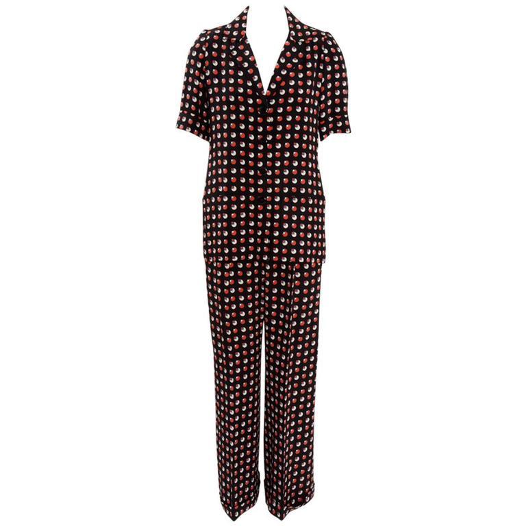 Yves saint laurent haute couture trousers suit circa 1973 for Haute couture suits