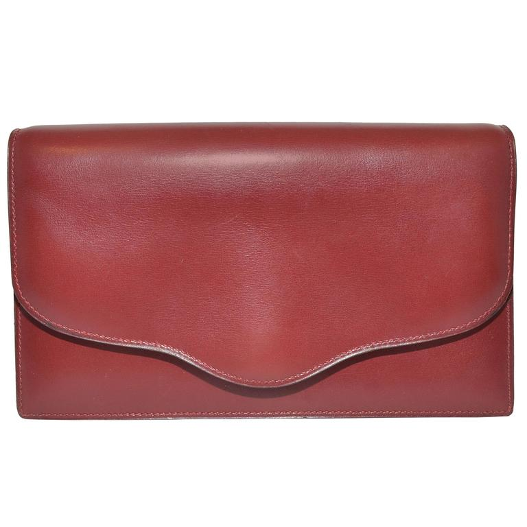 Hermes 1962 Box Calf Rogue 2 Way Clutch Bag with Strap 1