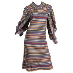 Late 1970s Missoni Dress with attached Scarf/Hood