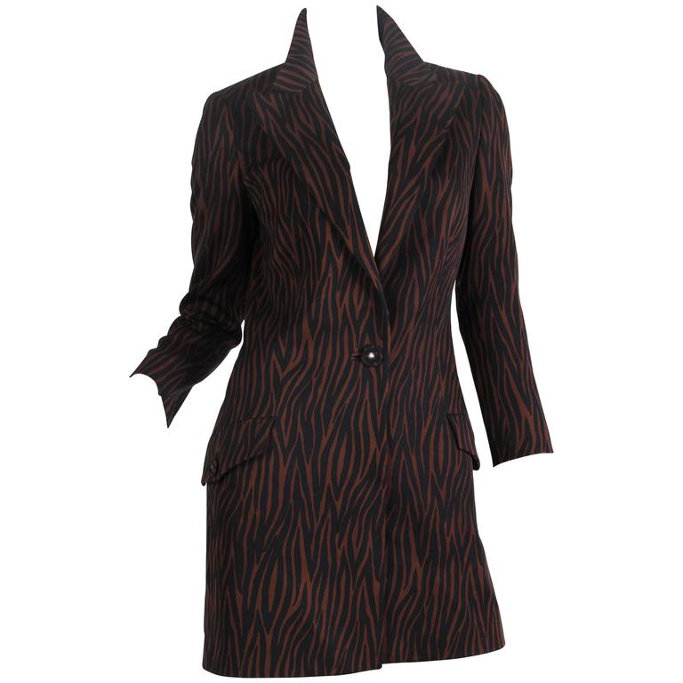 1990s Versace Tiger Jacket Dress