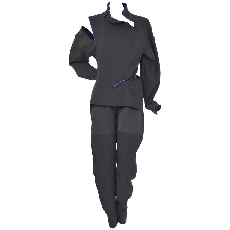 "ISSEY MIYAKE  1990's  Runway ""Zipper"" Suit"